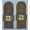 Army 73rd Signal Regt. Enlisted Shoulder Boards