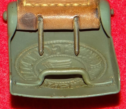 Police NCO/EM Buckle with Leather Tab