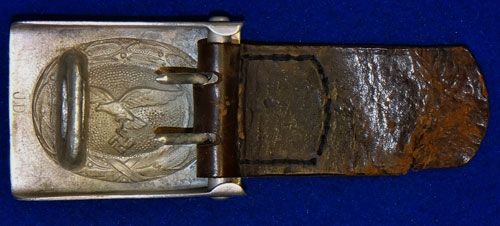Luftwaffe NCO/EM Buckle with Leather Tab