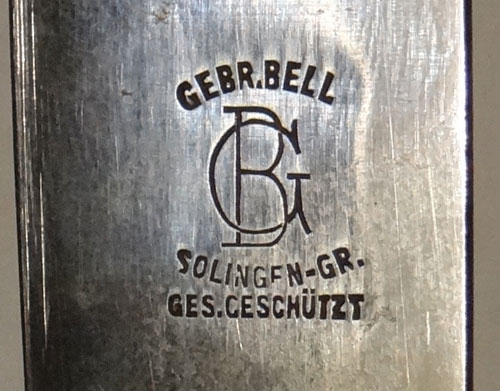 "Hitler Youth Knife with Motto by ""GEBR. Bell"""