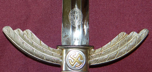"Luftwaffe Dress Sword by ""Paul Weyersberg"""