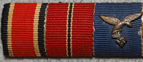 WW II Four Place Lapel Button Ribbon Bar