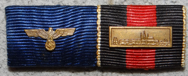 WW II Army Two Place Ribbon Bar - German Medals, Badges and