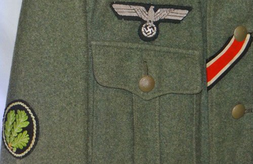 Army Panzerjager Oberleutnant Service Tunic