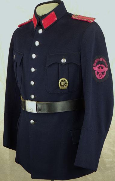 German Volunteer Fire Brigade Service Tunic German Wwii