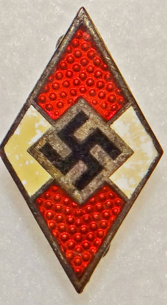 Hitler Youth Enamel Membership Badge