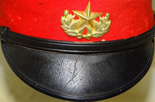 Japanese WW II Army Imperial Guard Officers Visor Hat