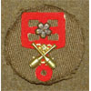 WW II Japanese Army Artillery Cloth & Metal Arm Badge