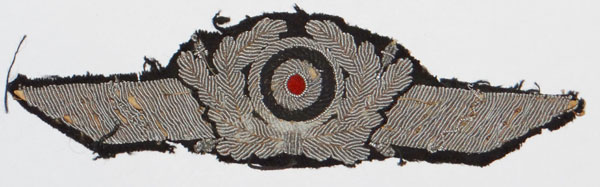 Luftwaffe NCO/EM Metal Visor Hat Wreath