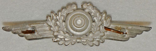 Luftwaffe Officers Bullion Wire Visor Hat Wreath