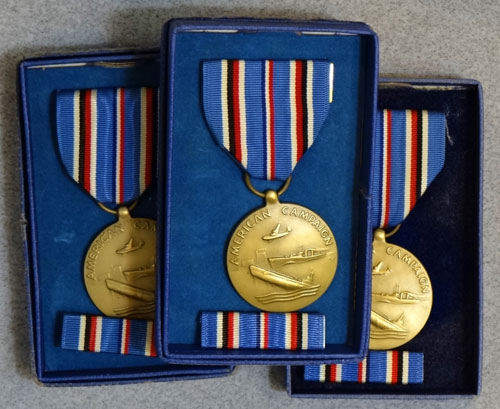 "Boxed WW II ""American Campaign"" Medals"
