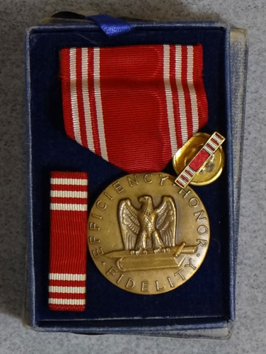 "Numbered WW II Army ""Good Conduct"" Medal"