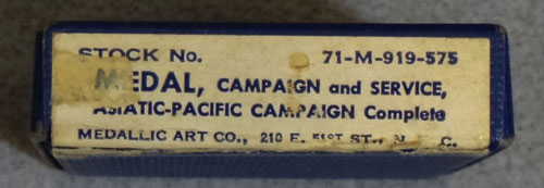"Boxed WW II ""Asiatic-Pacific"" Campaign Medal"