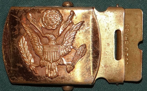 Army Enamel Bronze Metal Belt Buckle U.S