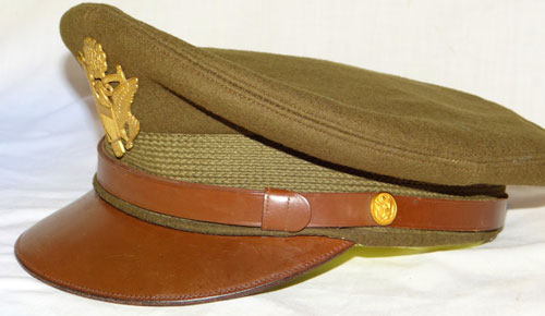 NAMED WW II U.S. Army Officers Visor Hat