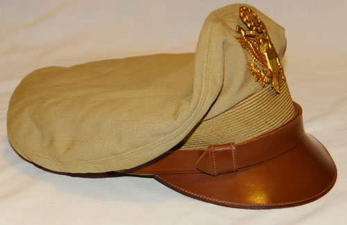 "U.S. Army WW II Officers ""Campaign Hat"" with 14th Field Artillery DI on front"