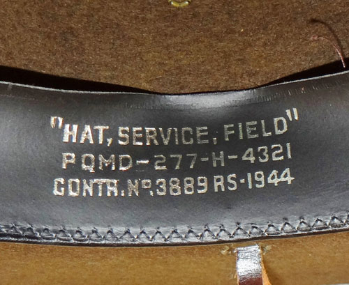 "WW II ""CRUSHER"" U.S. Army Officer Visor Hat"