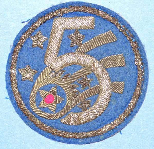 Bullion 5th Army Air Force Shoulder Patch