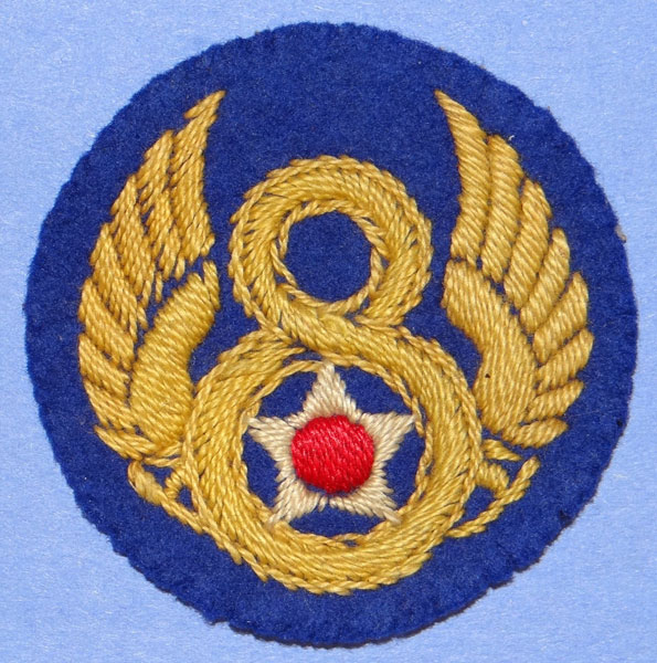 English Made WW II 8th Army Air Force Shoulder Patch