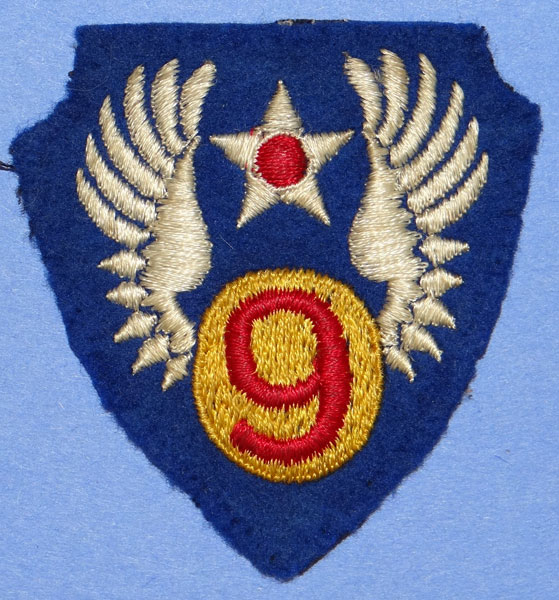 English Made WW II 9th Army Air Force Shoulder Patch
