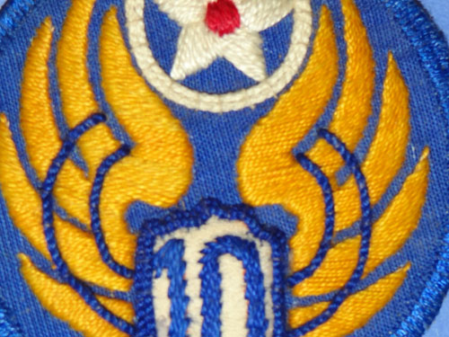 10th Army Air Force WW II C.B.I Theater Made Patch