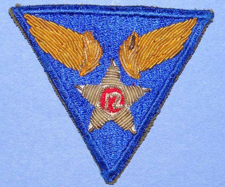Bullion 12th  Army Air Force WW II Patch