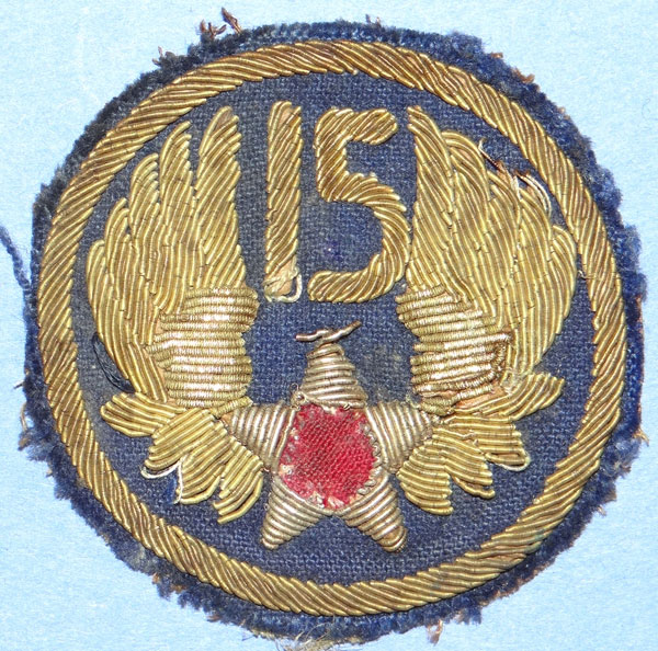 Theater Made Bullion 15th Army Air Force WW II Patch