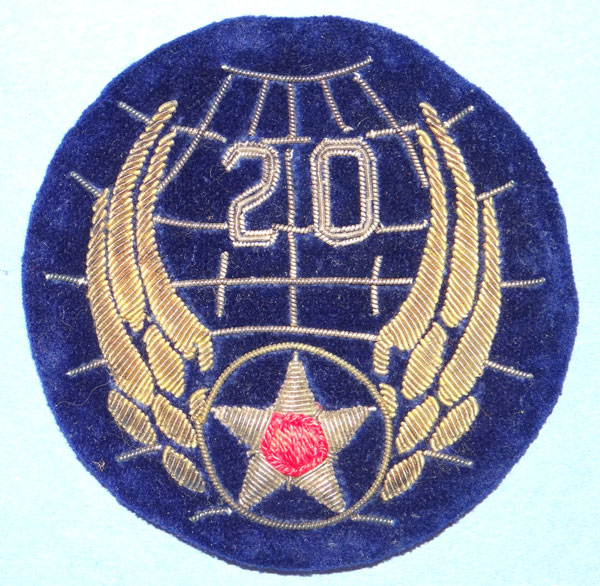 Theater Made Bullion WW II 20th Army Air Force Patch