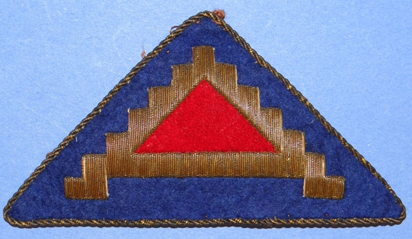 Theater Made Bullion 7th Army WW II Patch