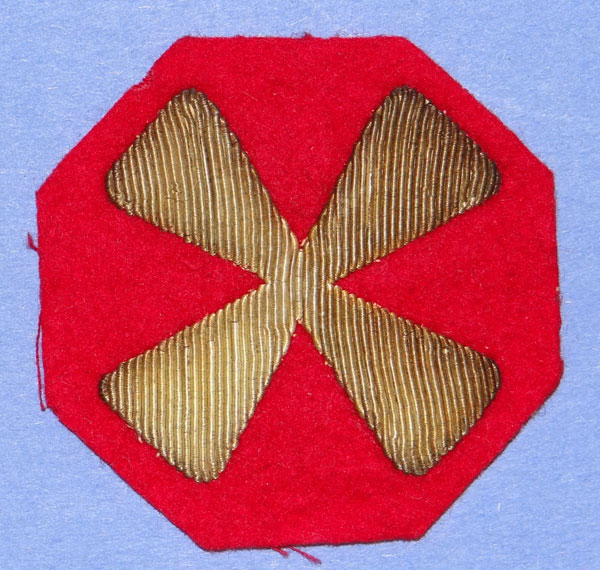 Theater Made Bullion  8th Army Patch