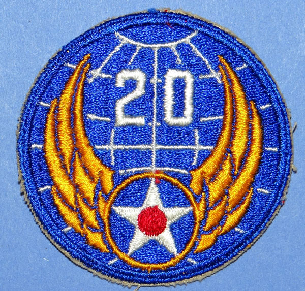 20th USAAF WW II Patch