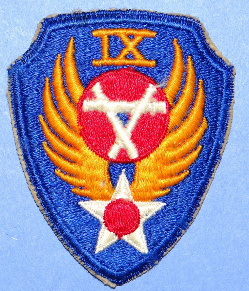 "USAAF WW II ""9th Engineer Command"" Patch"