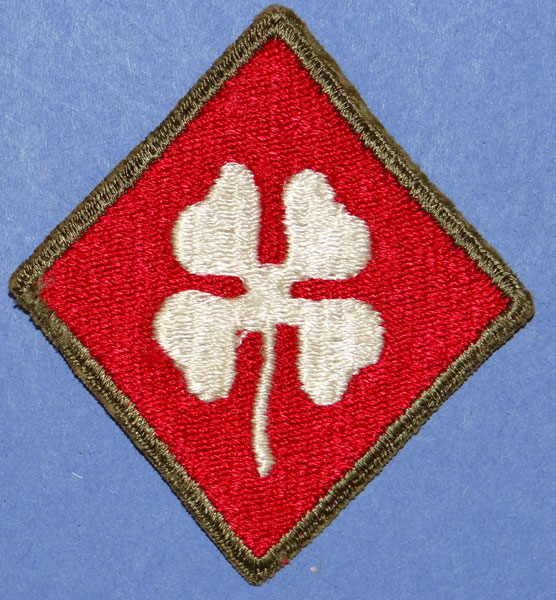 Green Backed WW II 4th Army Patch