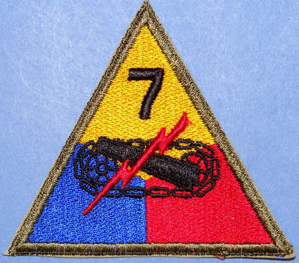WW II 7th Armored Div. Patch