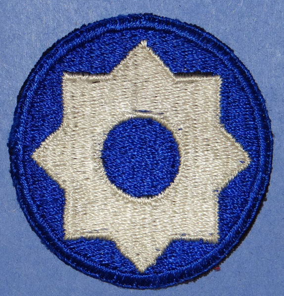 WW II 8th Service Command Patch