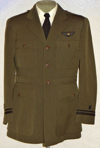 WW II U.S. Navy Lt. Commander Green Aviator Coat