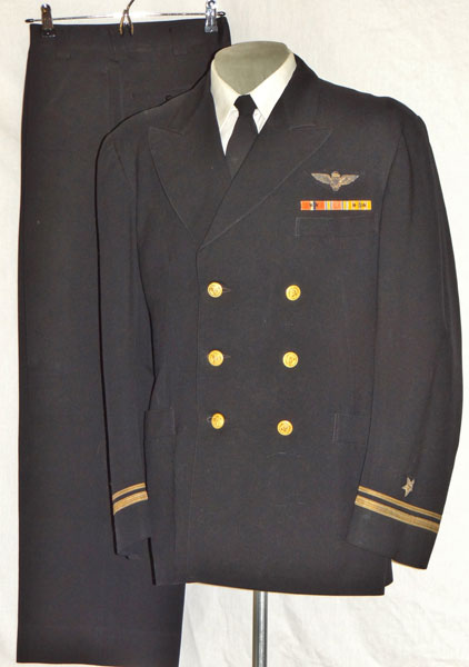 WW II U.S. Navy Lt. Commander Coat & Trousers & Garrison Cap