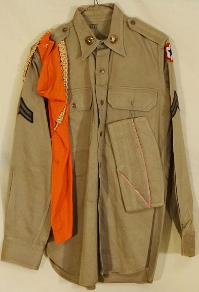 U S Army Korean War Amp Late 50 S Tan Enlisted Shirt U S