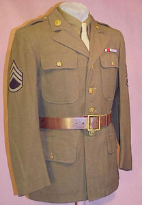 WW II Army Port of Embarkation Units Transportation Corps Staff Sgt. Service Coat